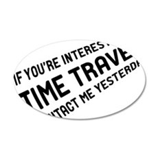 Time Travel 35x21 Oval Wall Decal
