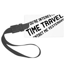 Time Travel Luggage Tag