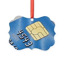 Credit card microchip Ornament