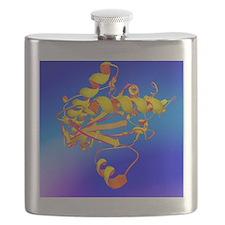 Creatine amino acid molecule Flask