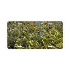 Cornfield meadow in France Aluminum License Plate