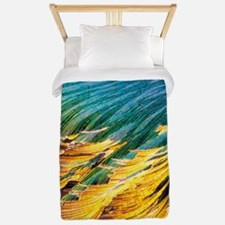 Cortisol crystals, light micrograph Twin Duvet