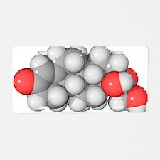 Cortisol hormone molecule Aluminum License Plate
