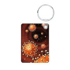 Coronavirus particles, art Keychains