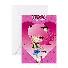 Nyan heart journal Greeting Card