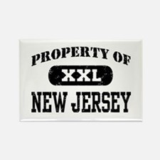 Property of New Jersey Rectangle Magnet