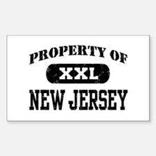 Property of New Jersey Rectangle Decal