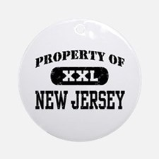 Property of New Jersey Ornament (Round)