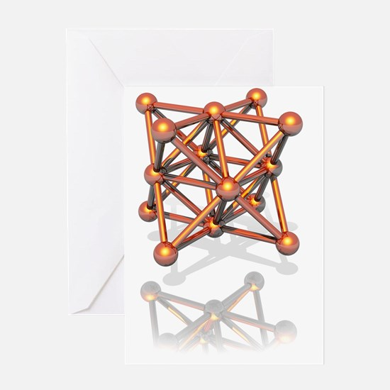 Copper crystal structure Greeting Card