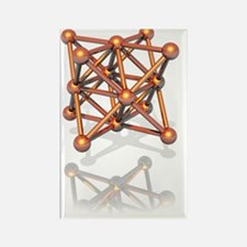 Copper crystal structure Rectangle Magnet