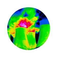 "Cooling towers, thermogram 3.5"" Button"
