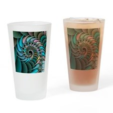 Computer-generated chaos fractal Drinking Glass