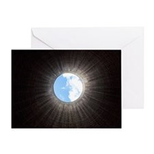 Cooling tower interior Greeting Card