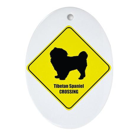 Tibetan Crossing Oval Ornament