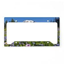 Wildflower meadow, Mount Rain License Plate Holder