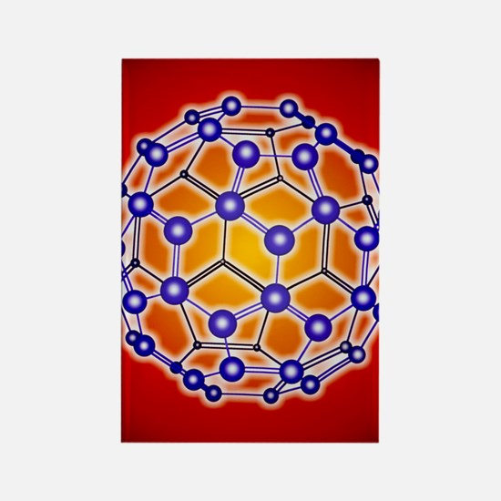 Computer graphic of a buckyball ( Rectangle Magnet