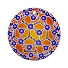 Computer graphic of a buckyball (C6 Round Ornament