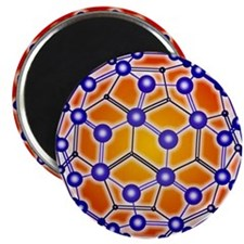 Computer graphic of a buckyball (C60) Magnet
