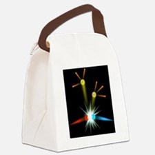 Computer art of a positron-electr Canvas Lunch Bag