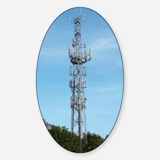 Communication mast Sticker (Oval)