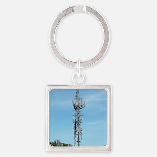 Communication mast Square Keychain