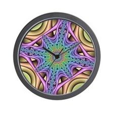 Computer-generated Mandelbrot fractal Wall Clock