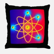 Computer graphic of a Beryllium atom Throw Pillow