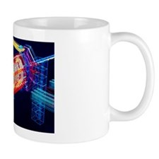 Computer art of ATLAS detector Mug