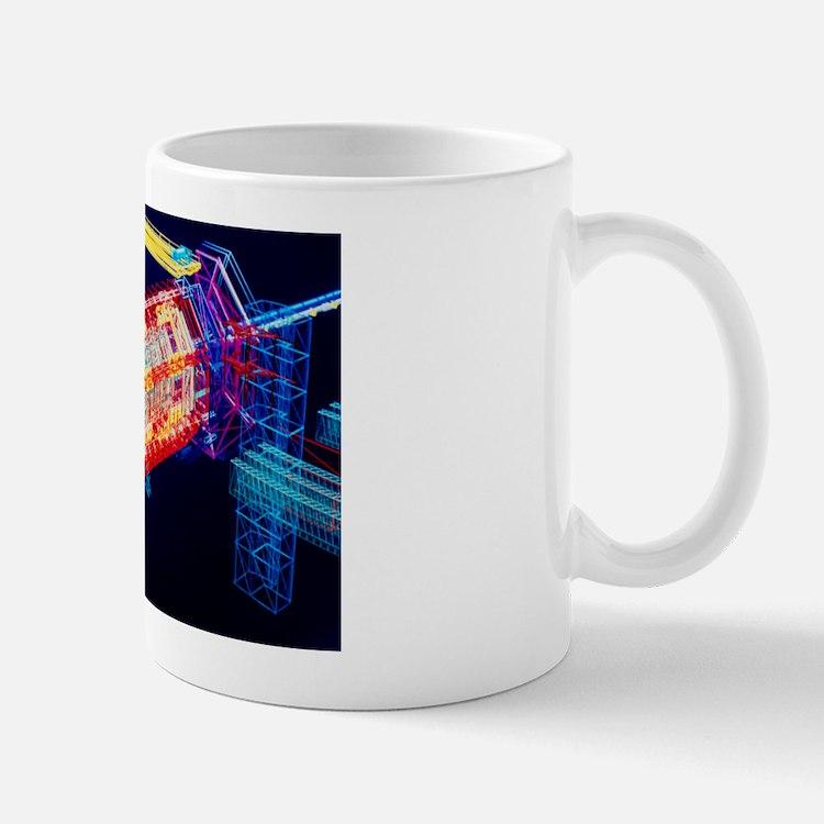 Computer art of ATLAS detector Mug