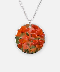 Common poppies (Papaver rhoe Necklace