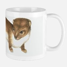 Common weasel, artwork Mug