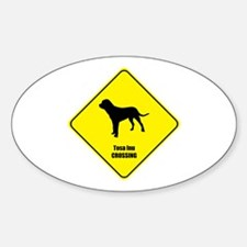 Tosa Inu Crossing Oval Decal
