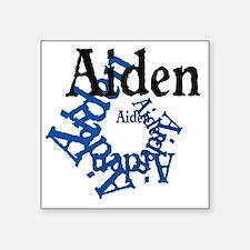 """Aiden Square Sticker 3"""" x 3"""""""