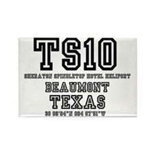 TEXAS - AIRPORT CODES - ts10 - sh Rectangle Magnet