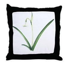 Common snowdrop, artwork Throw Pillow