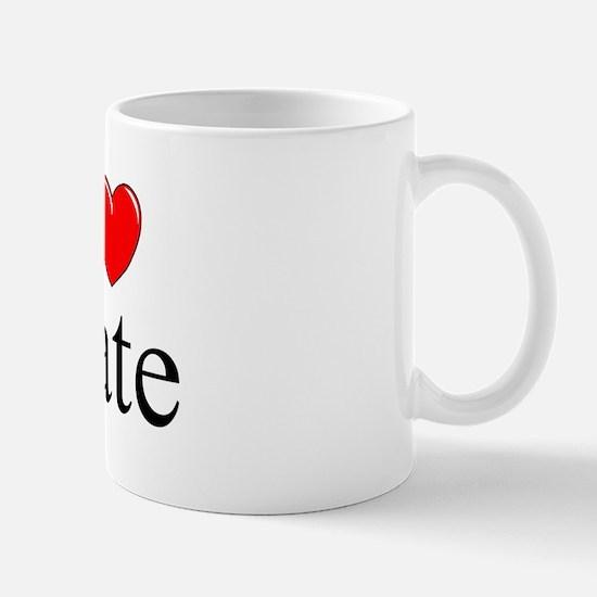 """I Love (Heart) Nate"" Mug"