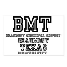 TEXAS - AIRPORT CODES - B Postcards (Package of 8)