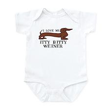 I love my Itty Bitty Weiner Infant Bodysuit