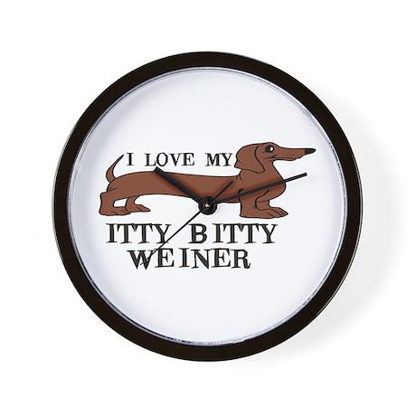 I love my Itty Bitty Weiner Wall Clock