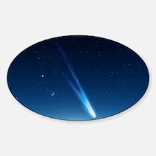 Comet in the night sky, artwork Decal
