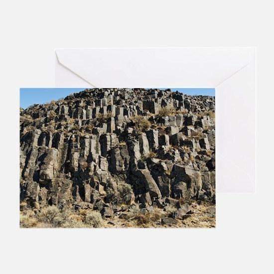 Columnar basalt formation Greeting Card