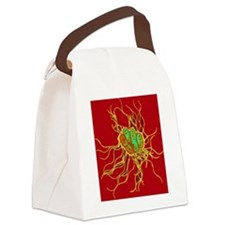 Coloured TEM of Salmonella bacter Canvas Lunch Bag