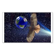 Night Hawk World Rectangle Decal