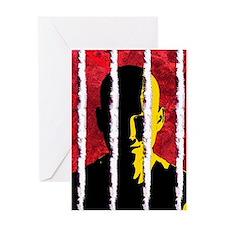 Cocaine addiction, conceptual artwor Greeting Card
