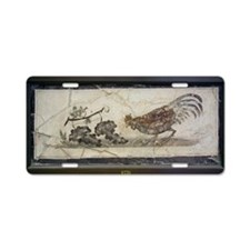 Cockerel and grapes, Roman  Aluminum License Plate