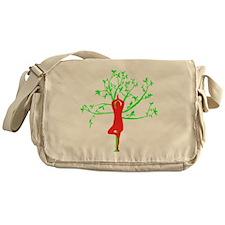 Yoga Tree Pose Messenger Bag