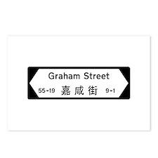 Graham St., Hong Kong Postcards (Package of 8)