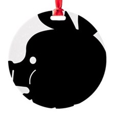Pyatochok sexy black Round Ornament