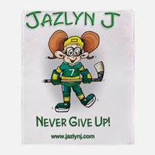 Jazlyn J Never Give up and website Throw Blanket