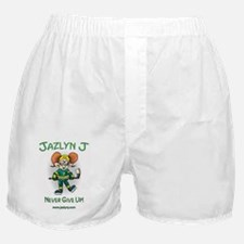 Jazlyn J Never Give up and website Boxer Shorts